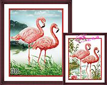 Пеликаны (Фон - белая канва)